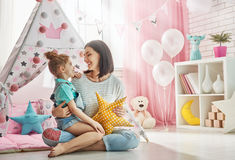 Happy loving family. Royalty Free Stock Images