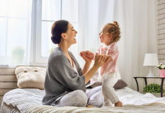 Happy loving family Stock Images