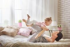 Happy loving family stock photos