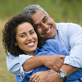 Happy Loving Hispanic Couple stock photography