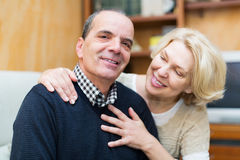 Happy loving mature couple Stock Photos