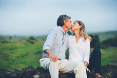 Happy loving middle aged couple Royalty Free Stock Photo