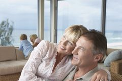 Happy Loving Parents At Home Royalty Free Stock Image