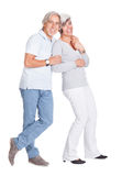 Happy loving senior couple Stock Images