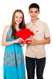 Happy loving young people Stock Images
