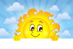 Happy lurking sun theme image 2 Stock Photo