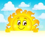 Happy lurking sun theme image 1 Stock Images
