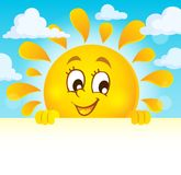 Happy lurking sun theme image 4 Royalty Free Stock Images
