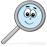 Happy magnifying glass Stock Images