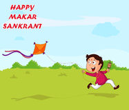 Happy Makar Sankrant Stock Photography