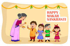 Happy Makar Sankranti Stock Images