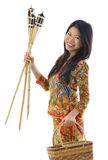 Happy Malay woman Stock Image