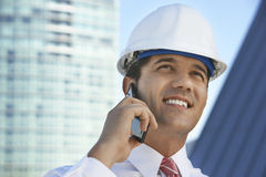 Happy Male Businessman On Call Royalty Free Stock Images
