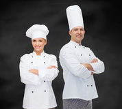 Happy male chef cook with crossed hands Royalty Free Stock Images