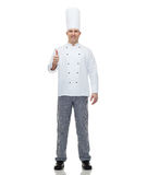 Happy male chef cook showing thumbs up Royalty Free Stock Photo