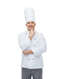 Happy male chef cook thinking Stock Image