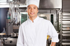 Happy Male Chef Stock Photo