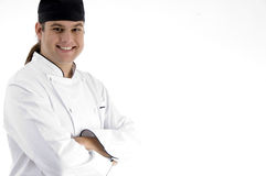 Happy male chef posing in front of camera Royalty Free Stock Images