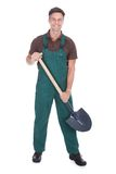 Happy male gardener Stock Images