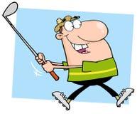 Free Happy Male Golfer Running Stock Image - 23807441