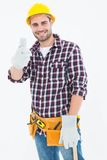 Happy male repairman gesturing thumbs up Royalty Free Stock Image