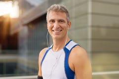 Happy Male Runner Stock Photos