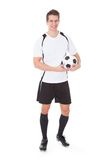 Happy male soccer player Stock Photos