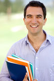 Happy male student Stock Photography