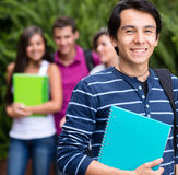 Happy male student Royalty Free Stock Images