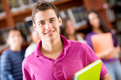 Happy male student Stock Image