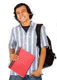 Happy male student portrait Stock Photo