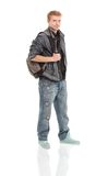 Happy male student smiling Stock Image