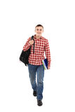 Happy male student smiling Stock Images