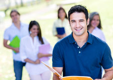 Happy male student Stock Images