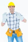Happy male technician wearing gloves Royalty Free Stock Photo