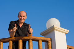 Happy male in vacation. Happy male in deserved vacation Stock Photography