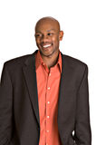 Happy man. Happy handsome African-American man smiling stock images