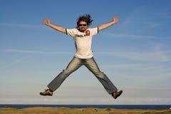 Happy man. Happy jumping man Royalty Free Stock Photography