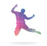 Happy man. Vector illustration of happy man jump Stock Photo