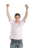 Happy man with arms up Royalty Free Stock Photography