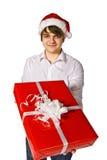 Happy man with  big gift box Royalty Free Stock Photo
