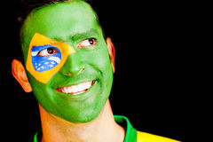 Happy man from Brazil Royalty Free Stock Image