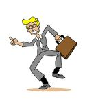 Happy Man in Business Suit with Briefcase Royalty Free Stock Photos