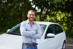 Happy man with car Royalty Free Stock Photo
