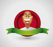 Happy man cartoon character Royalty Free Stock Image