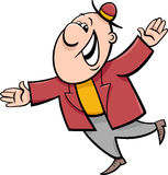 Happy man cartoon illustration Stock Photos