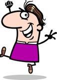 Happy man cartoon illustration Royalty Free Stock Photography