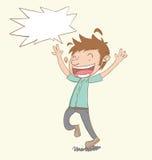 Happy man vector illustration