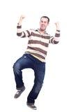 Happy man celebrating Royalty Free Stock Photos