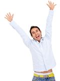 Happy man celebrating Royalty Free Stock Photo